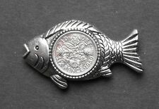 1957 60th birthday lucky Fish Brooch badge fishing lure tackle present gift