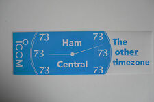 ICOM HAM CENTRAL THE OTHER TIMEZONE (STICKER ONLY).........RADIO_TRADER_IRELAND.