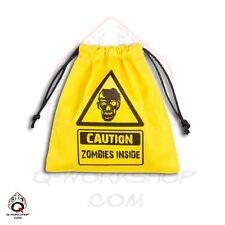 Q-workshop Dice Bag Zombies Inside Yellow Linen w/ Drawstring BZOM103