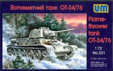 UM-MT Models 1/72 Soviet OT-34/76 FLAMETHROWER TANK