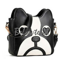 Girls Fashion Cute Dog Cartoon Messenger Bag Shoulder Patchwork Handbag