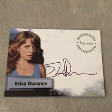 Erica Durance Signed Smallville Authentic Autograph Card Inkworks Rare A27