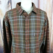 Woolrich Men's XXL NEW Plaid Long Sleeve Button Front Shirt Brown NWT