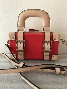 Kate Spade Let's Go Fly A Kite Mini Red Luggage Crossbody Clutch Purse Pre-Owned