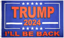 3X5 Trump 2024 I'll Be Back Blue Flag Premium Quality 3'x5' Polyester Flag