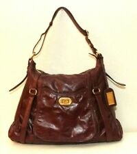 Badgley Mischka Plum Leather Hobo Shoulder Bag