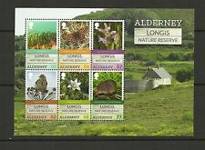 ALDERNEY 2016 LONGIS NATURE RESERVE MINI SHEET MNH
