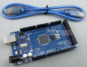ATmega2560-16AU ATMEGA16U2 Board & USB Cable for Arduino MEGA2560 R3