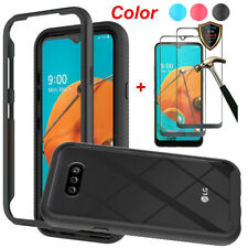 For LG K31/Aristo 5/Phoenix 5 Hybrid Clear Slim Case Cover+Full Screen Protector