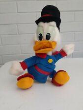 "Vintage NOS Disney Duck Tales Scrooge McDuck Plush Toy 15"""