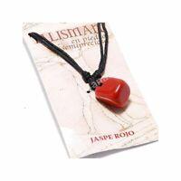 Colgante Jaspe Rojo Piedra Talisman Amuleto de la suerte (fuerza y vitalidad)