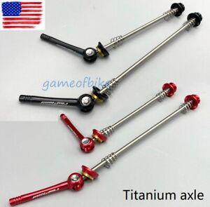 Dixi Ti Titannium Axle 7075 AL Lever Skewers set Road//MTB Bike Black//Red//Gold