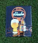 Original Vintage 1980s  Metal Tin Beer Bar Sign F&M SCHAEFER Beer New York