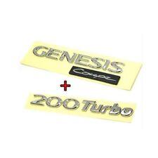 Hyundai GENESIS Coupe lettering Logo Emblem + 200 Turbo SET OEM 08 09 10 11 12