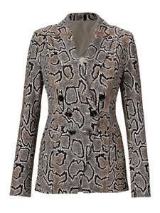 Cabi New NWT Python Blazer Size 12 #3733 Snake Print Ivory Brown Black Was $189