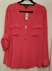 Express Pink Chelsea Popover XL  NWT