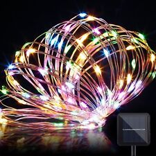 10M 100LED Outdoor Fairy String Rope Light Solar/Power controller Waterproof