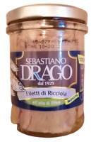 Filetti di Ricciola in olio di oliva vaso da 200gr lavorato a mano in Sicilia