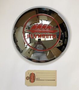 1946 1947 1948 Plymouth Hubcap, Gorgeous Reproduction!