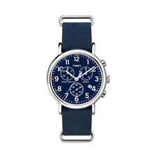 Mens Wristwatch TIMEX WEEKENDER ABT002 Chrono Fabric Blue INDIGLO