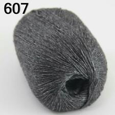 Sale 1ball 50g luxurious Pure 100% Cashmere Hand Knitting Yarn Charcoal gray
