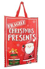 Christmas Shopping Bags Tote Presents Shopper Gifts Reusable Grocery Big Storage