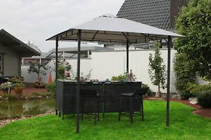 Leco Pavillon mit Theke und Hockern Garten Bar Pavillion Zelt 2,45 x 2,45 m