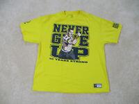WWE Shirt Adult Extra Large Yellow Black WWF Wrestler Wrestling John Cena Mens