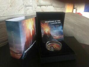 1000 Francs Kamerun 2020 - 1 OZ Mountains Of Fire Laacher See 2020 mit Lava