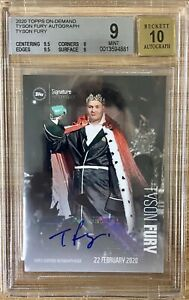 2020 Topps Now Tyson Fury Auto BGS 9/10 Undefeated Heavyweight Champ 5 Day Only
