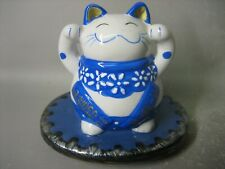 Lovely fortune cat figurine / hand mirror