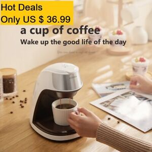 Single Serve Coffee Maker Thermal Drip Instant Coffee Machine with Coffee Cup
