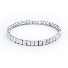 CRISLU Princess Cut Cubic Zirconia Tennis Bracelet SSP 12 5 cttw NEW w Tags SALE