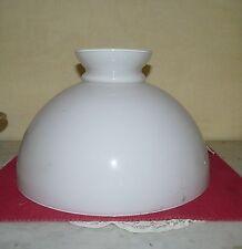Abat jour opaline,verre,lustre, lampe pétrole, lampe électrique 344 mm N°358