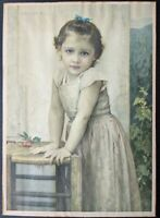 Antique William Adolphe Bouguereau Yvonne Print Louis F. Dow Co. 1896 Gilt Frame
