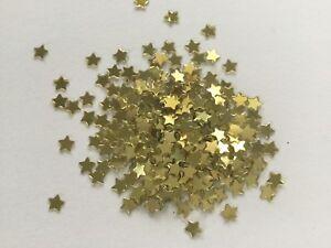 SMALL 3mm GOLD STARS GLITTER TINY CONFETTI  FESTIVAL face body nail art 3g bag