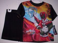 Power RANGERS SPD Pajamas Boy's 8 NeW Shirt Shorts Pjs Red Ranger Police NWT