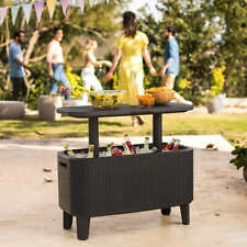 New listing Keter Bevy Party Bar Table and Outdoor Cooler Combo @