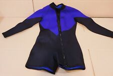 Mens Performance Shorty Wetsuit XL 6mm Black and purple w/ front zipper Thailand