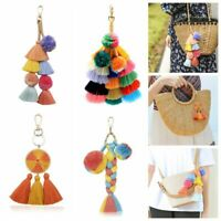 Candy Colors Tassel Pom Pom Charm DIY For Chain HandBag Car Pendant Accessories