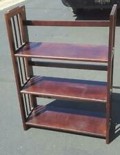 Gently Used Solid Wood Cherry Veneer Finish Folding Book Shelf - VGC - GREAT