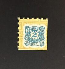 Oklahoma State Revenue - 2 cents blue Tobacco (Cigarette) Tax Stamp #T40 - MNH