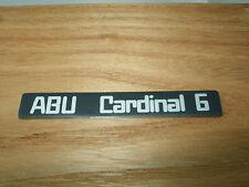 ABU CARDINAL 6 SIDE PLATE BADGE STICKER DECAL