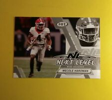 Mecole Hardman Georgia Bulldogs Sage HIT 2019 Next Level 129 Silver Parallel WOW