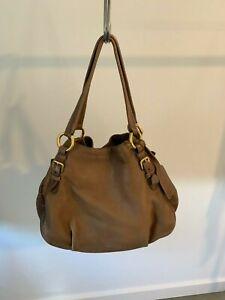 Prada Deerskin Brown Handbag