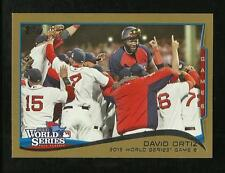 2013 World Series 4 card Boston Red Sox Topps Gold Set - 2014 Topps gold cards