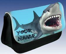 Shark Fish Kids School Personalised Pencil Case Make Up Bag Great Gift Idea!
