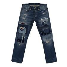 Polo Ralph Lauren Mens Jeans Slim Straight Fit Distressed Denim New Nwt Prl