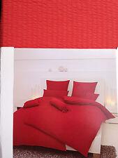 bettwäschen SET orange rouge Janine coton 135x200+80x80cm Mako satin