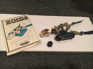 Tomy Zoids Aquazoid parts and Instruction Booklet